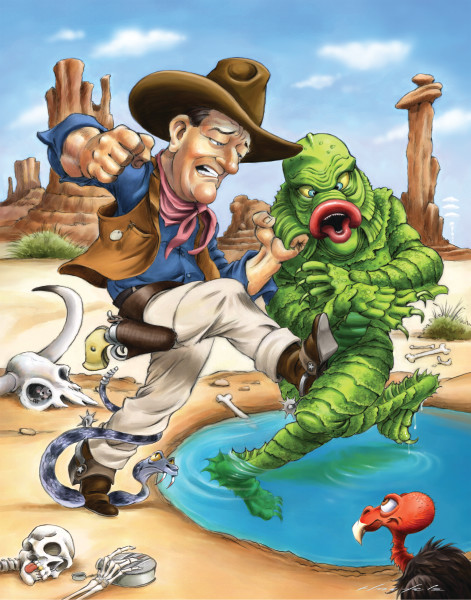 John Wayne, Creature, Black Lagoon