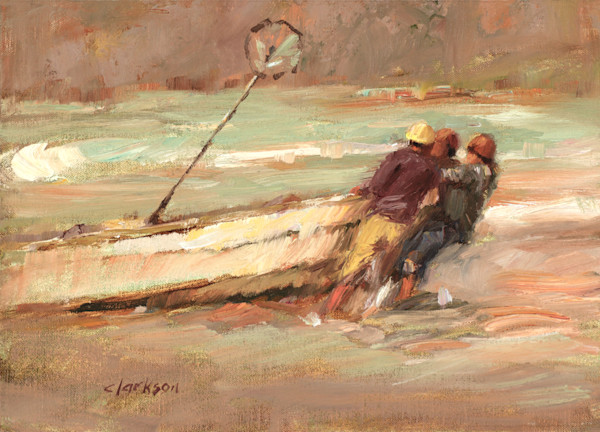Fine Art Print of Mexican Fishermen