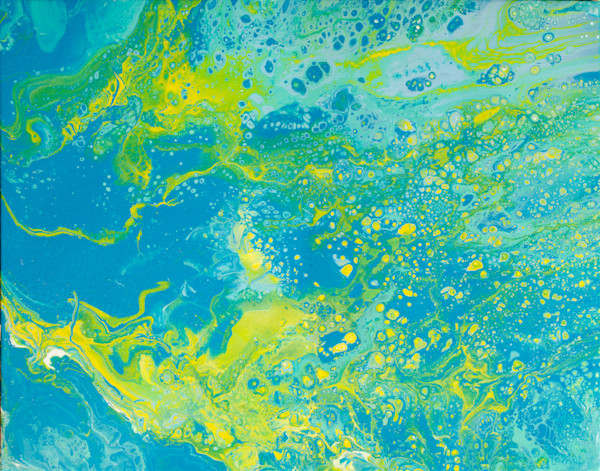 Dirty Acrylic Paint Pour 15 Abstract Photography Reproduction Print