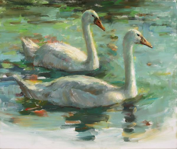 Drifting on the Lake - Fine Art Oil Painting