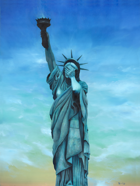 My Lady, a political satire piece featuring the statue of liberty