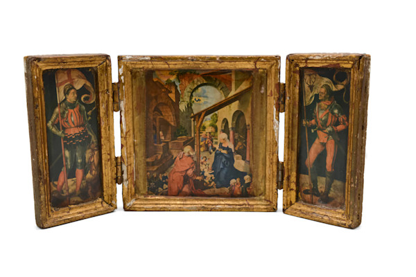 Florentine Traveling Icon Triptych