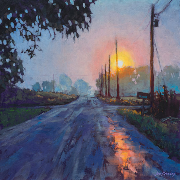 Hazy Morning, Country Road - by Jed Dorsey