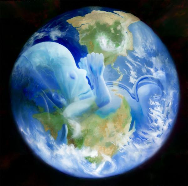 Gaia, Original Oil on Canvas Painting