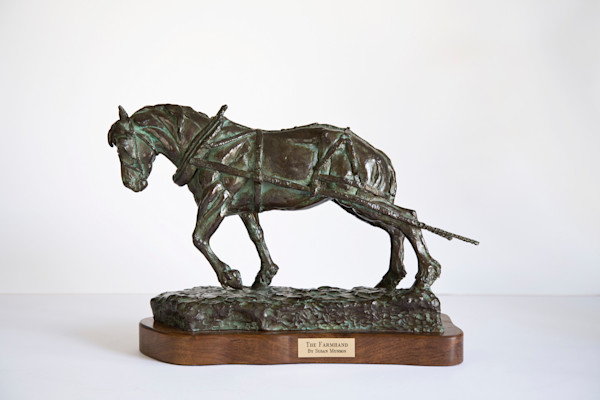 Bronze Horse Sculpture by Susan Munson - The Farmhand