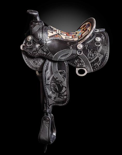 Custom Black Pot Trail Saddle by Skyhorse Saddles