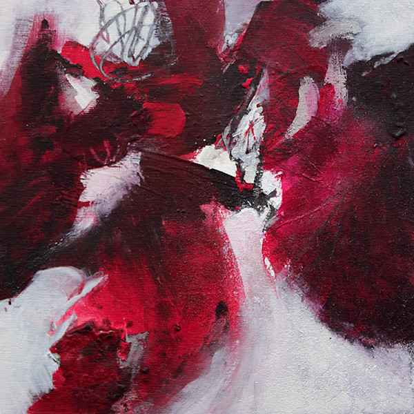"""Abstract painting """"Red Sky at Night"""" by Canadian artist Marianne Morris"""