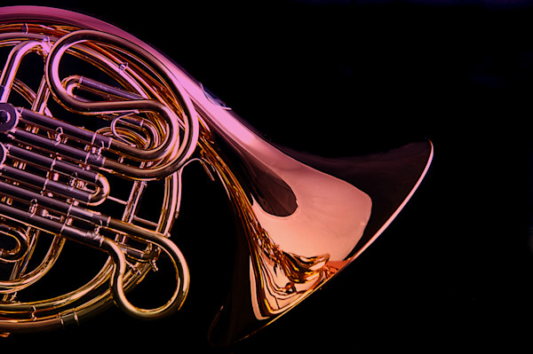 Isolated French Horn Metal Art 2079.14