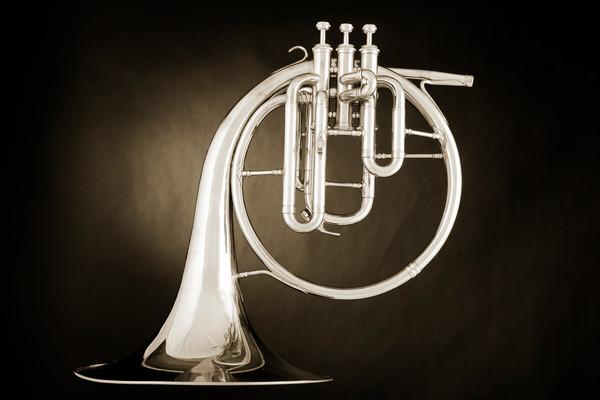 French Horn Antique Music Art 2080.27