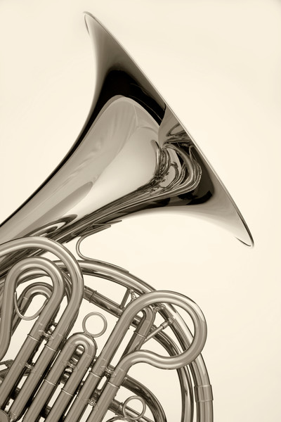 French Horn Isolated On White 2080.30