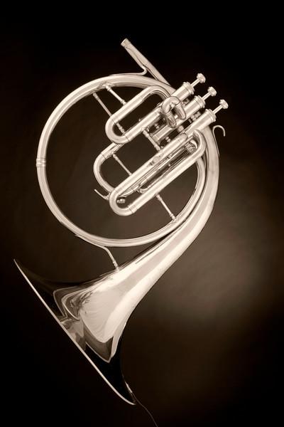 Music Art French Horn Antique 2080.26