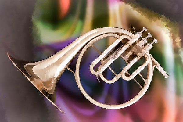 French Horn Fine Art Paintings
