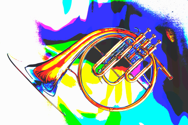Playful French Horn Painting 2081.51