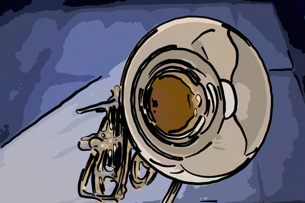 Marching French Horn Painting 2081.52