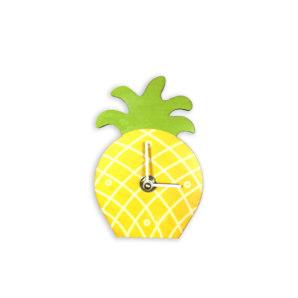 Pineapple Mini Cutout Clock