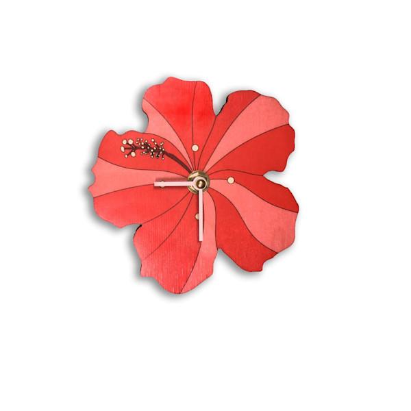 Hibiscus Mini Cutout Clock