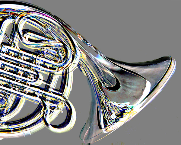 French Horn Embossed Photographic Prints