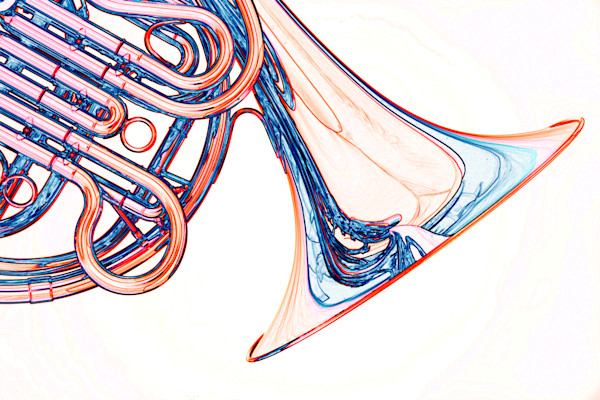 French Horn Watercolor Art Print 2084.35