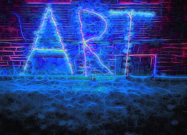 Art Sign at Night