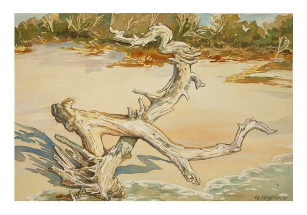 Weathered Sentinel | Watercolor Landscapes | Gordon Meggison IV