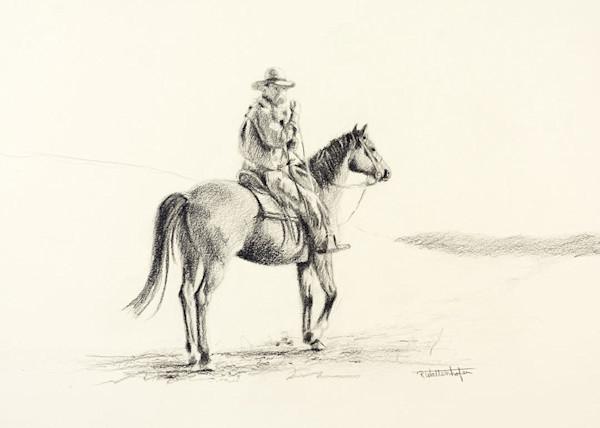 Raymond Wattenhofer Looking Back Pencil Study