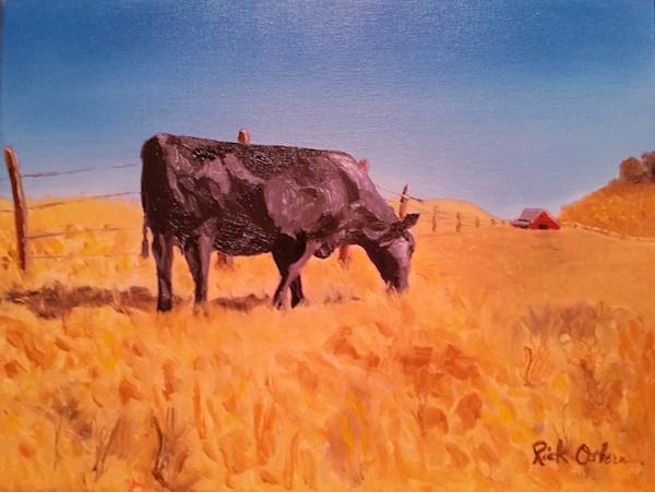Heifer A While | Fine Art Painting Print by Rick Osborn