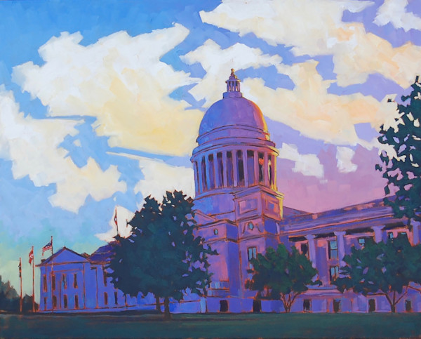 Capitol Reflections, fine art print from original oil on canvas painting by Matt McLeod
