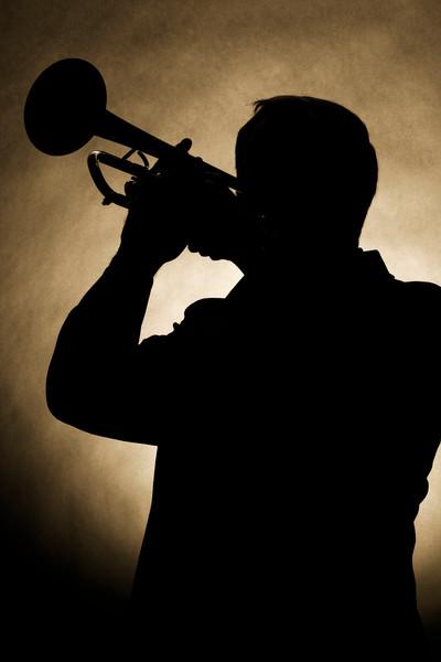 Silhouette Trumpet Musician Wall Art 2502.42