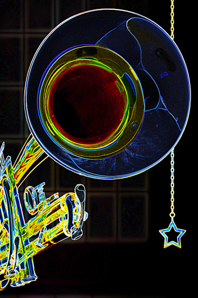 Jazz Trumpet Drawing 2505.16