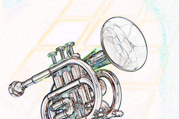 Classic Cornet Watercolor 2506.01