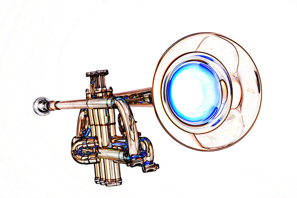 Simple Trumpet Watercolor 2506.08