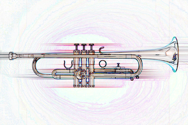 Trumpet Streak Wall Art Decor 2506.24