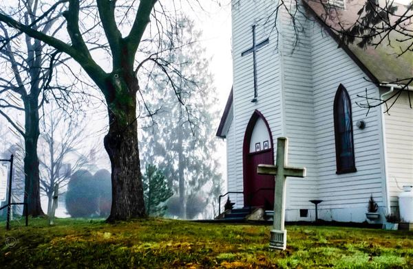 Landscape Photographs of Churches, Churchyards and Crosses.