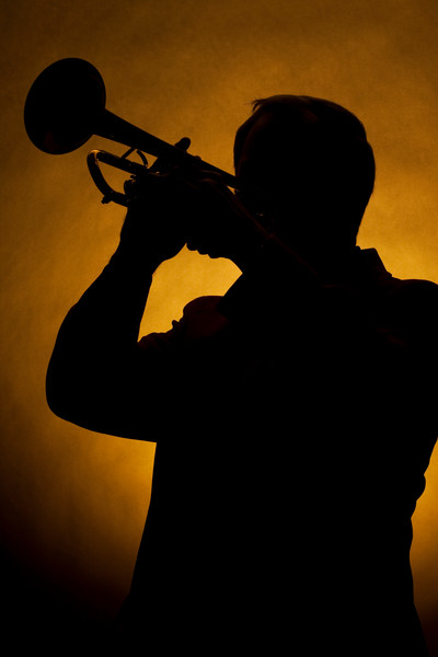 Silhouette of Trumpet Player 2508.71