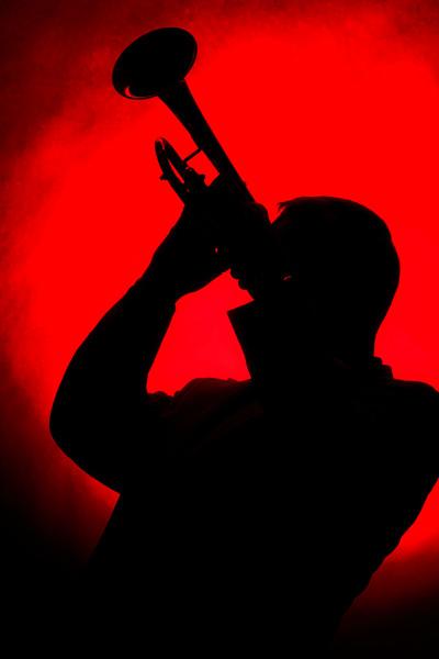 Red Jazz Trumpet Silhouette 2508.72