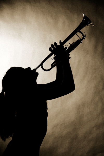 Trumpet Music and Girl Silhouette 2508.76