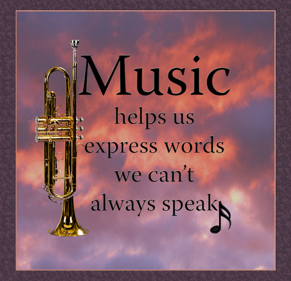 Music Helps Trumpet Poster 2507.43