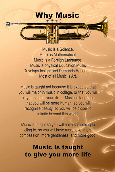 Trumpet Poster Why Music 2507.53