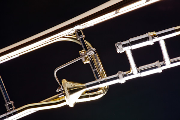 Music Art Rotor Trombone on Black 2601.07