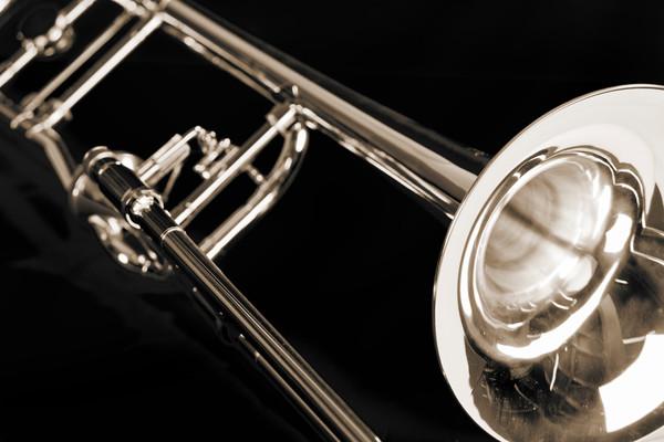 Antique Trombone in Sepia 2602.21