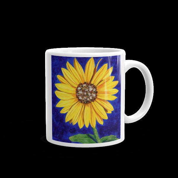 Sassy Sunflower Mug | Mare's Art LLC