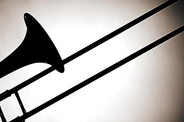 Metal Art Trombone Silhouette 2608.46
