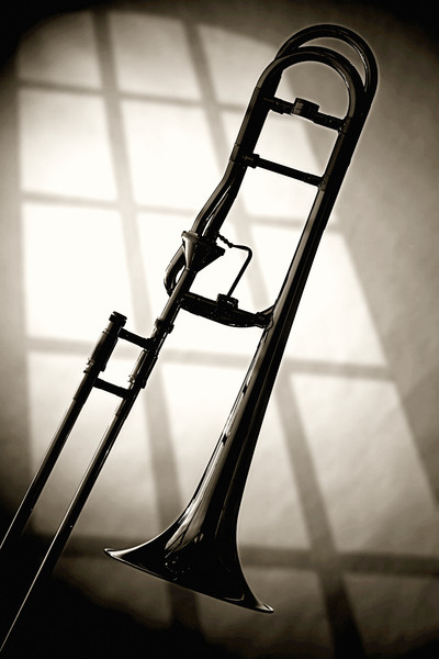 Trombone Silhouette and Window 2608.42