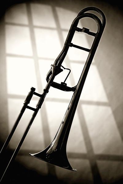 Trombone Silhouette Fine Art Photographs