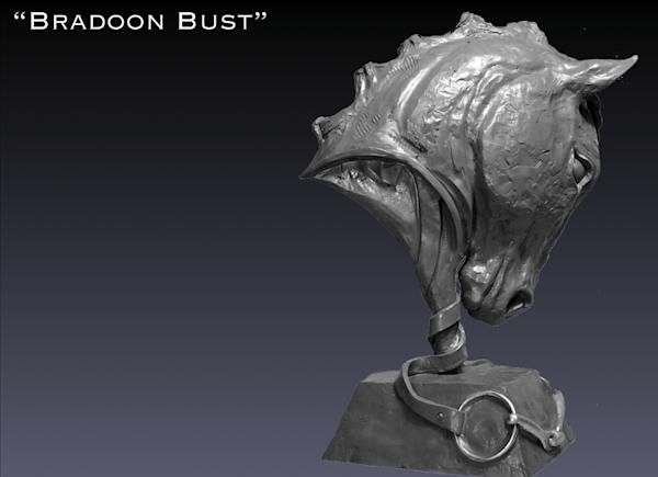 Bradoon Bust Art | Equine Instincts Studio