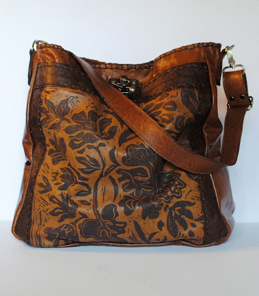 Large leather tote bag the Emilie