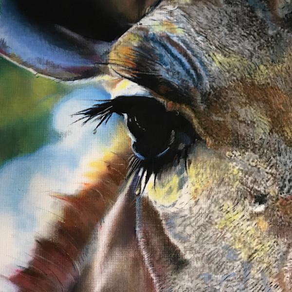 Original Western Art Pastel Horse Painting Art