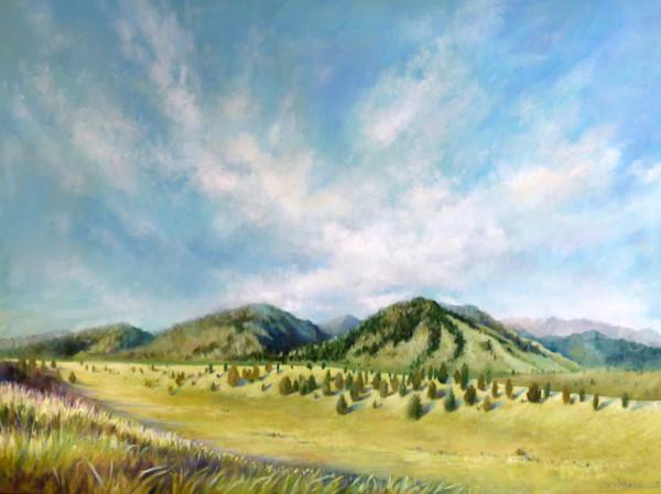 bear creek, landscapes, oil paintings, wendy marquis, original