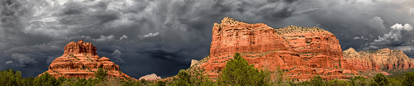 Storm Clouds Over Courthouse Butte