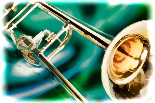 Canvas Art Trombone Painting 2603.14